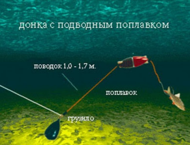 донка с подводным поплавком
